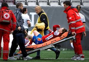 Elva månader efter knäskadan kunde Linda Hallin på lördagen göra comeback på fotbollsplanen.