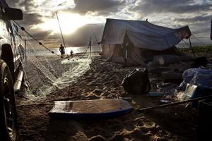 De här är tre av Anders Nordléns bilder som skildrar de hemlösas situation på Hawaii.
