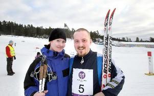 Natalie och Andreas Eriksson som tränat på en golfbana, tyckte att skidterrängen på Lugnetstadion var väl kuperad.