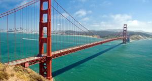 Nu fyller Golden gate-bron i San Fransisco 75 år.