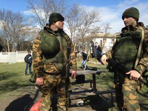 Enligt Rysslands president Vladimir Putin är det inte ryska soldater utan