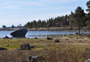 Stranden på Stenudden där ett 20-tal hus planeras.