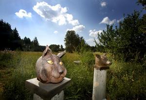 Närstudier av djurböcker från loppisar ligger till grund för skulpturerna. Sedan arbetar Marianne Grandien om, och skapelserna får sin egen fantasieggande form.