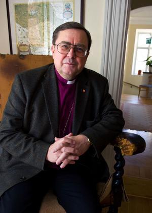 Biskop Thomas Söderberg leder nyårsandakten vid Falu gruva i kväll.
