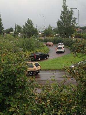 Trafiken tvingas köra mot enkelriktat vid tågstationen i Falun.