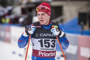 Fredrik Hansson precis efter målgång.