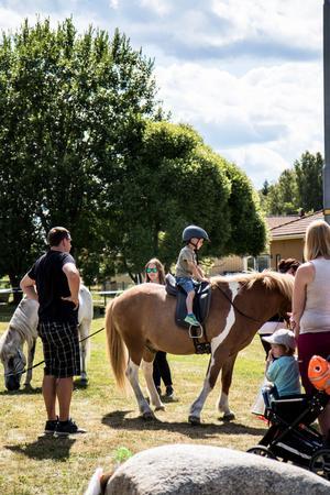 Det fanns även möjlighet till ponnyridning.