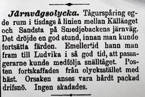 Ur tidningen Dalpilen 1897. Foto:Ur tidningen Dalpilen 1897