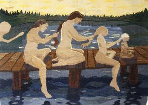 Flätan, bildväv av Margareta Sörlin.