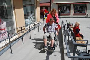 Det fanns även möjlighet att med rullstol prova de ramper som byggts.