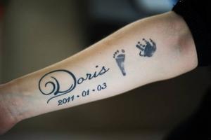 Dagen då Doris föddes och dog kommer alltid att finnas med familjen