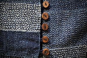 Kimonojacka i indigofärgad bomull.