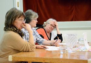 Och Nora-laget: Britt-Marie Olsson, Karin Lundberg och Britt Argårds.
