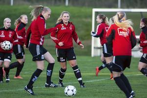 Tjejerna i Västanfors kan se fram emot spel i division 2 nästa säsong. Foto: Jörgen Hjerpe