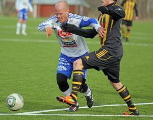Michael Åhman, jobbade hårt i Sollefteå och var en av få som förtjänade ett överbetyg i förlustmatchen mot Brunflo.