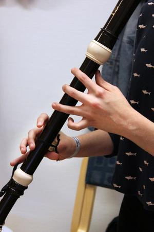 Blockflöjt är ett annorlunda inslag i folkmusik.