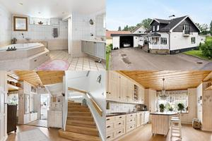 I den här helrenoverade villan på Tvärgatan 2 finns bland annat en spa-avdelning i tvättstugan.
