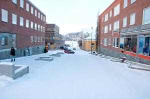 Samuel Permansgatan – den här gatstumpen blir enkelriktad.