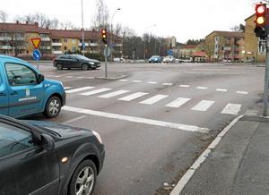 Emausgatan i korsningen med Bergslagsvägen.