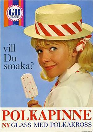 1966 fanns det en ny glass med polkakross.