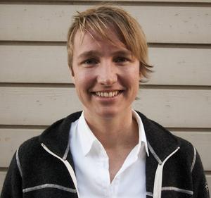 Christina Hedin står överst på Vänsterpartiets lista inför valet till kommunfullmäktige i Östersund.