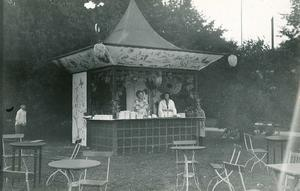 En kiosk som var en del av Barnens dagsfirandet.