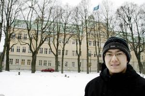 MEDICIN OCH MER KINESISKA. David Yang från Älvkarleby funderar på att plugga till läkare efter gymnasiet. Dessutom skulle han vilja bättra på sin kinesiska med hjälp av någon högskolekurs senare.
