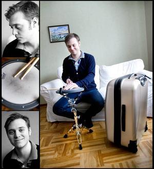 Trummisen Kristofer Persson från Gävle har packat väskan för att flyga till USA. Där ska han gå en högt ansedd musikutbildning.