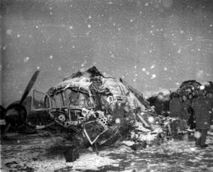 Det kraschade flygplanet på Münchens flygplats den 6 februari 1958.