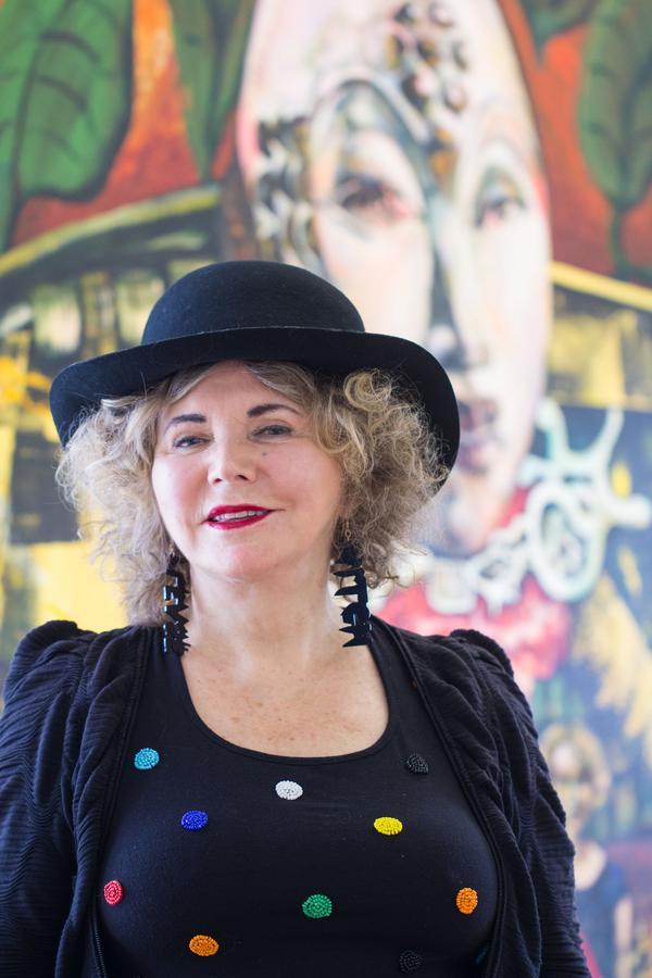 Eva Zettervall höll vernissage på Galleri Astley på söndagen.