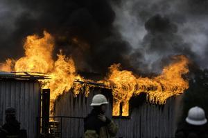 I ett område på Skönsmon syndes kraftig rökutveckling från idrottsplatsen. Det rörde sig dock enbart om en övning som räddningstjänsten genomförde.