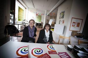 Karin Kvam och Ellen Hyttsten presenterade programmet för Konstens vecka på Designcentrum i Östersund.