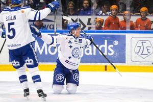 David Åslin blev förste målskytt i Leksand för denna säsong.