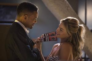 Will Smith och Margot Robbie såsar omkring i