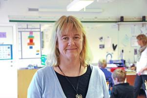 Rektor Karin Elfving är mycket stolt över att Ullvi skola får vara med i Leaderprojektet Små skolor i Utveckling.