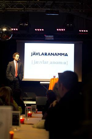 """Jonas Gustavsson berättade att """"jävlaranamma"""" är ett ledord i det förändringsarbete som nu pågår  inom SMT."""
