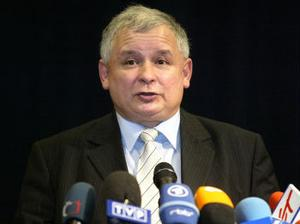 et nationalkonservativa partiet Lag och Rättvisas ledare Jaroslaw Kaczynski.