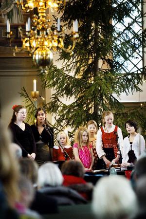 Hanna Spjutsvik, Ulrica Segerbrand, Julia Julin Hallbäck, Viktoria Swing, Emma Swing, Signe Söderqvist och Clara Li bildade en barnkör som framförde julsånger.