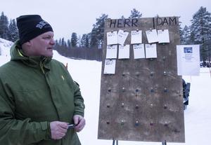 Tony Nord höll koll på ställningen och deltagarnas olika tider.