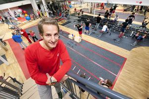 Just att det är högt i tak och att motionärerna kan se varandra lätt tycker gym- och lokalansvariga Björn Sjöberg är mycket bra.