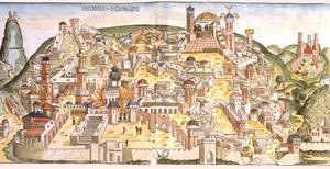Babylonierna förstör Jerusalem 586 före Kristus.