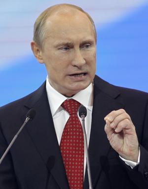 Ingen mysfarbror. Rysslands nygamle president Vladimir Putin gillar inte inhemsk opposition och hindrar åtgärder mot våldsregimen i Syrien. Korruptionen är allmän och demokratin sitter trångt i Rysslandfoto: scanpix