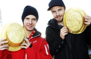Bröderna Daniel och Jonas Davidsson är förstås fortfarande mycket glada och nöjda över SM-guldet de tog med Piraterna i onsdags kväll.