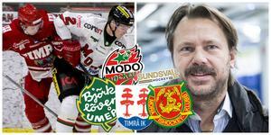 Stefan Lindqvist (höger) menar att SCA-cupen kommer spelas. En cup som innehåller Modo, Björklöven, Timrå och Mora från och med nu.