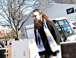 GIF-supportern Karl-Johan Kling gladde sig åt att säsongen äntligen är i gång.