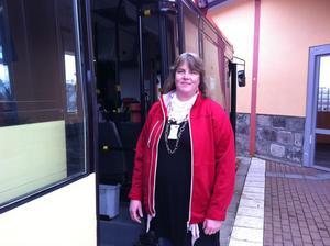 Ann-Marie Mannkvist är en av de två reseguiderna som är anställda på Sandviken kommun.