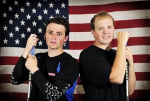 Jänkarna. Broc Little och David Lundbohm är redo att lyfta VIK Hockey i allsvenskan.