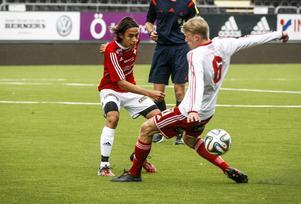 Sebastian Lundbäck, född 1996, har sett bra ut på IFK Östersunds mittfält hela året. Det räckte dock inte mot serieledarna.