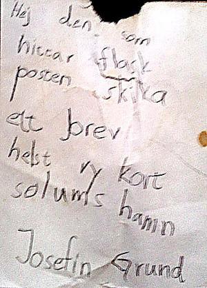 Här är brevet som hade bevarats inne i flaskan under 22 år.