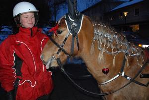 Catrine Hagman hade flätat så fint på sin häst Qvintus.